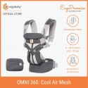 Ergobaby Omni 360 Baby Carrier - All-in-One Cool Air Mesh (Carbon Grey)