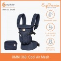 Ergobaby Omni 360 Baby Carrier - All-in-One Cool Air Mesh (Midnight Blue)