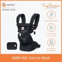 Ergobaby Omni 360 Baby Carrier - All-in-One Cool Air Mesh (Onyx Black)
