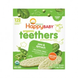 HappyBaby Organic Teethers Pea & Spinach