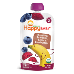 HappyBaby Stage 2 Simple Combos (Bananas Beets Blueberries)