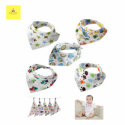 Blessed Bee Cotton Triangle Bib for Baby 5Pcs