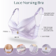 Bmama 3D Silky Soft 3/4 cup Shape Up Lace Nursing Bra - Up Way Open (Pink)