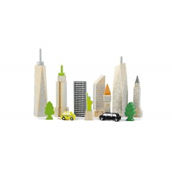 Wonder World City Skyline Glow Blocks