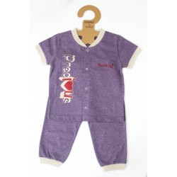 Budding Baby Anti-Mosquito Apparel Short Sleeve & Long Pant Boy - Purple