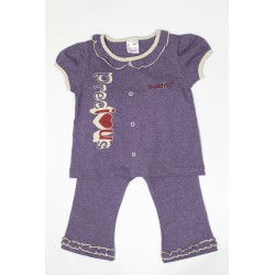Budding Baby Anti-Mosquito Apparel Short Sleeve & Long Pant Girl - Purple