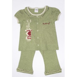 Budding Baby Anti-Mosquito Apparel Short Sleeve & Long Pant Girl - Green