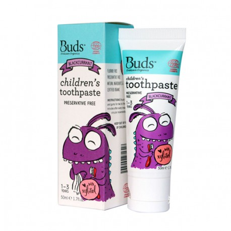 Buds Children's Toothpaste with Xylitol - Blackcurrant