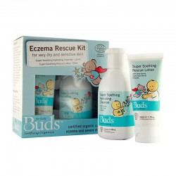 Buds Soothing Organics Eczema Rescue Kit Set