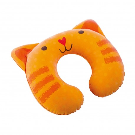 Intex - Inflatable Children Travel Pillow Kitty Orange