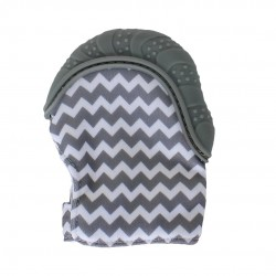 Earth Bebe Teething Mitten (Grey)