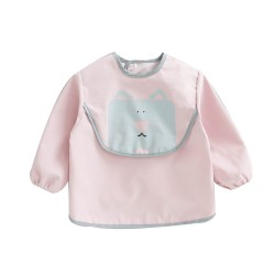 Earth Bebe Sleeved Waterproof Bib (Pink)