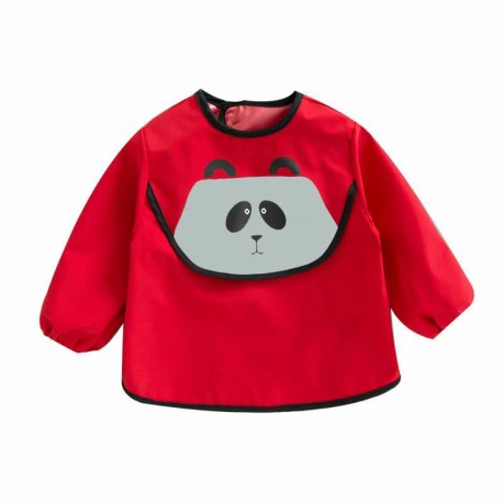 Earth Bebe Sleeved Waterproof Bib (Red)