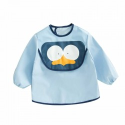 Earth Bebe Sleeved Waterproof Bib (Blue)