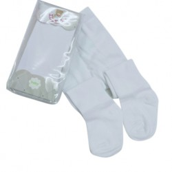 Earth Bebe Baby Leggings with Feet - White (EB-T09006)