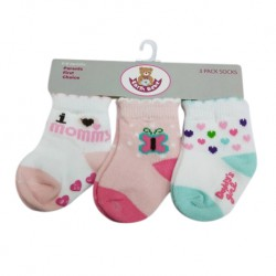 Earth Bebe Baby Girl 3in1 Socks (EB-S03003)