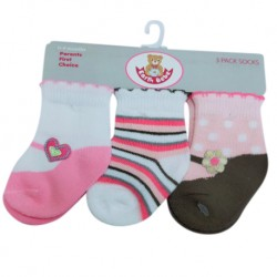 Earth Bebe Baby Girl 3in1 Socks (EB-S03020)