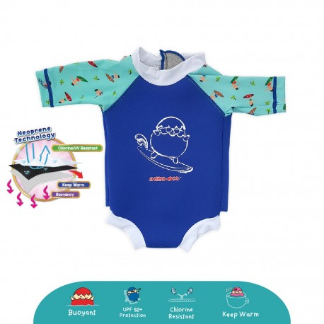 Cheekaaboo Snugbabes Thermal Swimsuit - Surfer (Summer Paradise)
