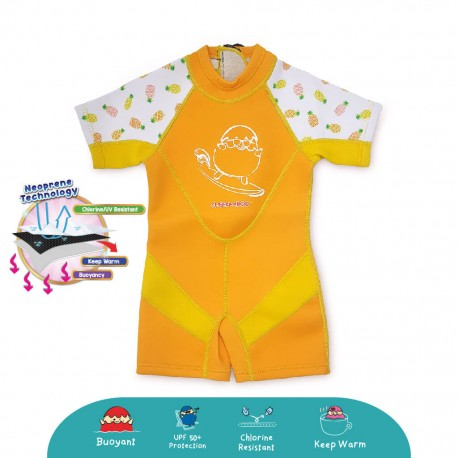 Cheekaaboo Kiddies Suit Thermal Swimsuit - Pineapple (Summer Paradise)