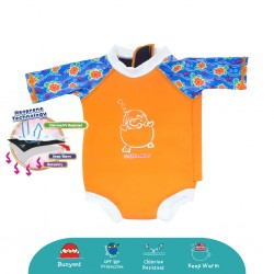 Cheekaaboo Snugbabes Suit-Orange / Sea Turtle