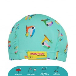 'Cheekaaboo Protective Waterproof Swim Cap - Toucan (2-8 years) - Summer Paradise'