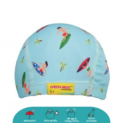 Cheekaaboo Protective Waterproof Swim Cap - Surfer (2-8 years) - Summer Paradise