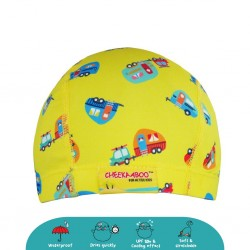 Cheekaaboo Protective Waterproof Swim Cap - Camber Van (2-8 years) - Summer Paradise