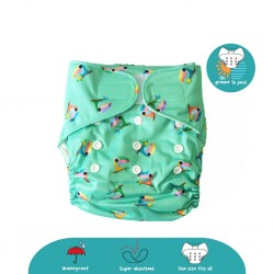 Cheekaaboo 2-in-1 Reusable Swim Diaper / Cloth Diaper - Toucan (6-36 months) - Summer Paradise