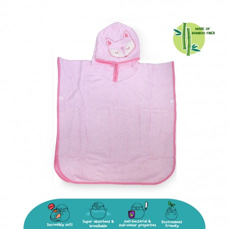 Cheekaaboo Premium Bamboo Hooded Poncho - Fox (Newborn - 4 Years)