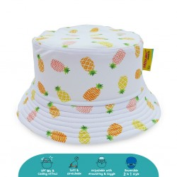 Cheekaaboo Reversible Bucket Hat - Pineapple (Summer Paradise)