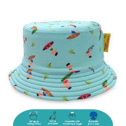 Cheekaaboo Reversible Bucket Hat - Surfer (Summer Paradise)