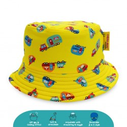 Cheekaaboo Reversible Bucket Hat - Camper Van (Summer Paradise)