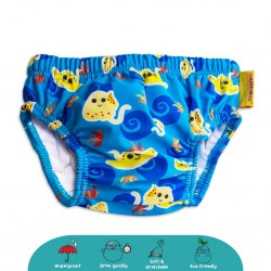 'Cheekaaboo Swim Diaper-Navy Blue / Stingray'