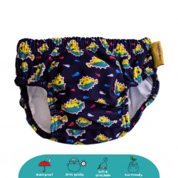 'Cheekaaboo Swim Diaper-Light Blue / Puffer Fish'