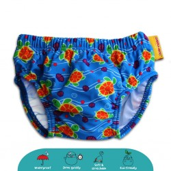 'Cheekaaboo Swim Diaper-Orange / Sea Turtle'