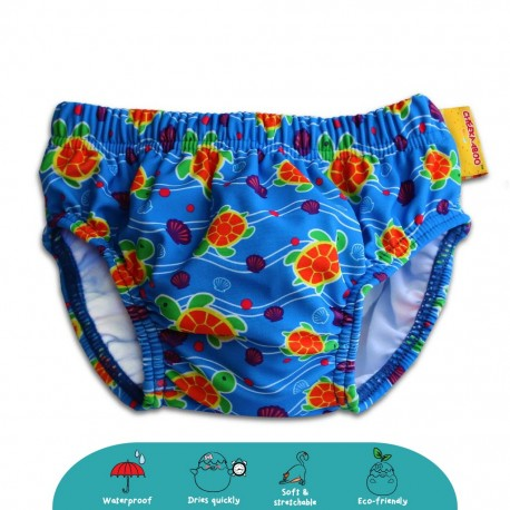 Cheekaaboo Swim Diaper (Orange / Sea Turtle)