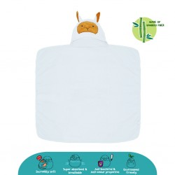 Cheekaaboo Premium Bamboo Hooded Towel - White / Sheep (Newborn - 6 Years)