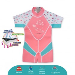 Cheekaaboo Kiddies Suit Thermal Swimsuit - Flamingo (Summer Paradise)