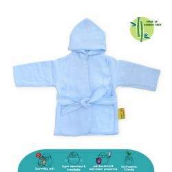 Cheekaaboo Premium Bamboo Hooded Bathrobe - Blue (Newborn - 36 mths)