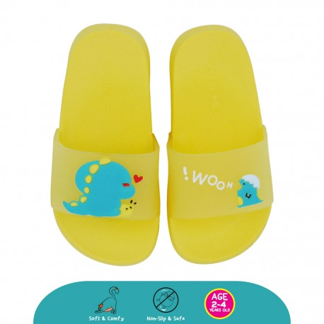 Cheekaaboo Toddler Colourful DINO Outdoor Slipper (Yellow)