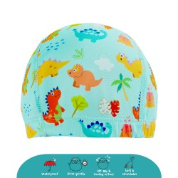 Cheekaaboo Protective Waterproof Swim Cap - Dino (2-8 years) - Summer Paradise