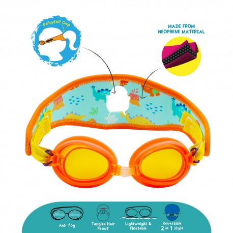 Cheekaaboo (Summer Paradise) Kids / Children Booggles - Untangleable Goggles (Dino)