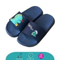 Cheekaaboo Toddler Colourful DINO Outdoor Slipper (Navy Blue)