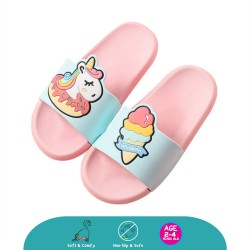 Cheekaaboo Kids Cartoon Slipper (Magical Unicorn Pink)