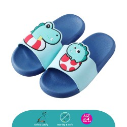 Cheekaaboo Kids Cartoon Slipper (Lil Crocodile Blue)