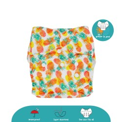 Cheekaaboo 2-in-1 Reusable Swim Diaper / Cloth Diaper - Pineapple (6-36 months) - Summer Paradise
