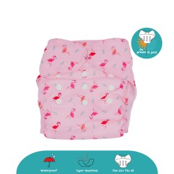 Cheekaaboo 2-in-1 Reusable Swim Diaper / Cloth Diaper - Flamingo  (6-36 months) - Summer Paradise