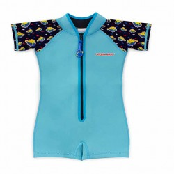Cheekaaboo Kiddy Wobbie Suit-Light Blue / Puffer Fish