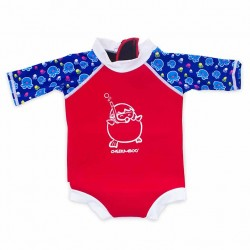 Cheekaaboo Snugbabes Suit-Red / Octopus