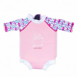 Cheekaaboo Snugbabes Suit-Light Pink / Sea Horse